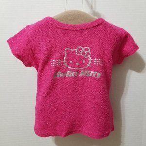 Hello Kitty shirt Medium fuzzy metallic graphic